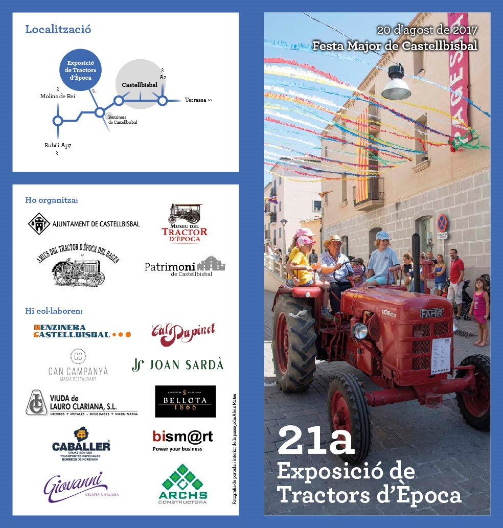 21th Exhibition of vintage tractors in Castellbisbal – 08/20/2017
